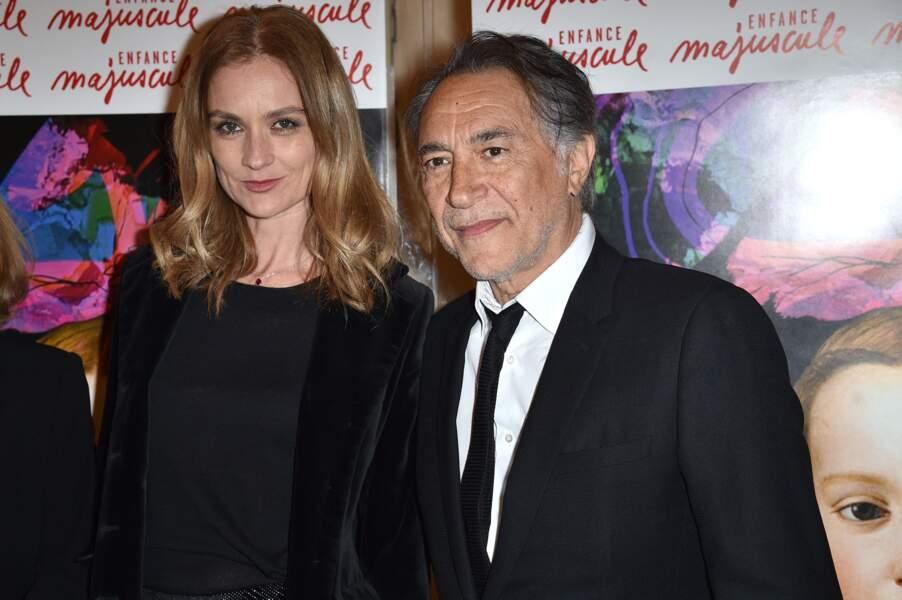 Richard Berry et sa femme Pascale Louange au Gala d'Enfance Majuscule donné au profit de l'enfance maltraitée à la salle Gaveau à Paris, le 25 mars 2019