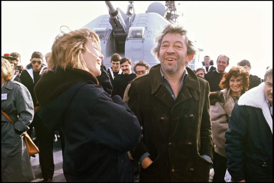 Jane Birkin et Serge Gainsbourg en 1984.