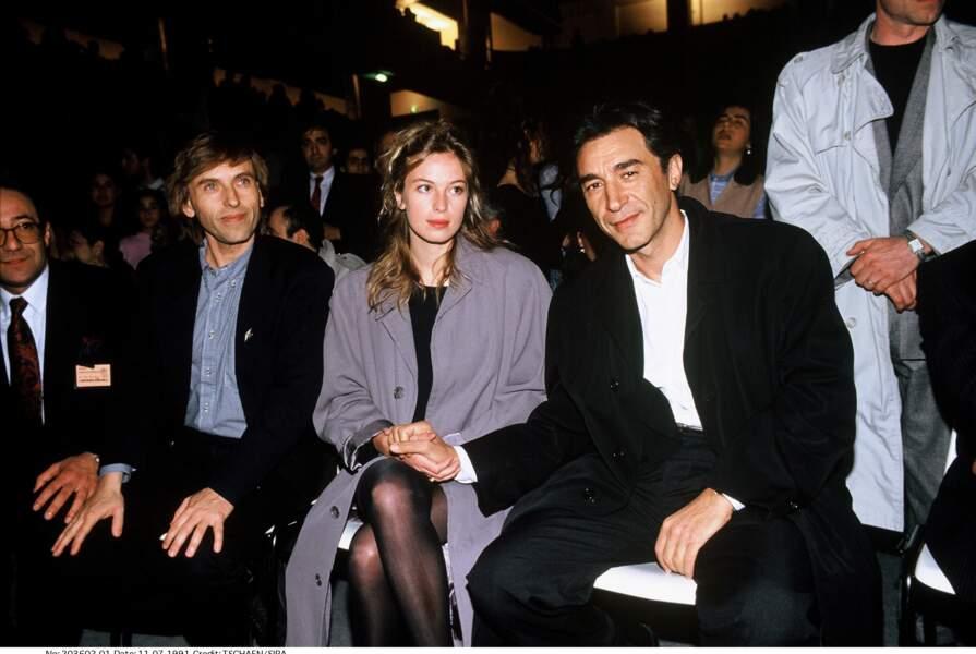 Richard Berry et l'actrice franco-britannique Jessica Forde lors de leur mariage en 1991
