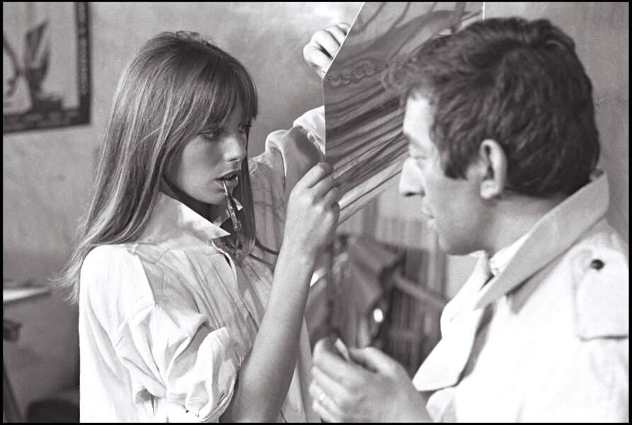 Serge Gainsbourg et Jane Birkin réunis à l'écran pour le film Slogan.