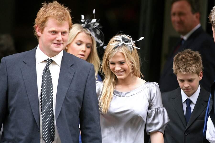 Lady Eliza Spencer, Lady Amelia et George McCorquodale, à Londres le 31 août 2007 pour une cérémonie hommage à Lady Diana