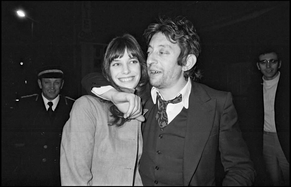 Serge Gainsbourg et Jane Birkin lors d'une soirée privée en 1972.
