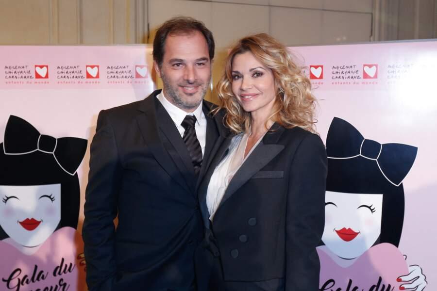 Ingrid Chauvin et son mari Thierry Peythieu au gala du Coeur donné au profit de l'association Mécénat Chirurgie Cardiaque, à Paris le 30 janvier 2017.