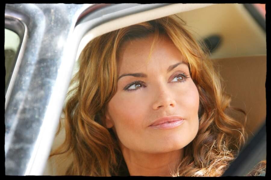 """Ingrid Chauvin, sur le tournage du """"Monsieur d'en face"""" d'Alain Robillard en septembre 2006. Le téléfilm sera diffusé en 2007 sur TF1."""