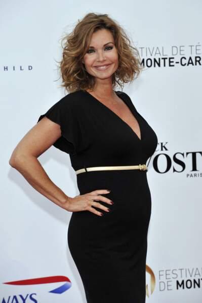 Ingrid Chauvin à la cérémonie d'ouverture du 53ème festival de Monte Carlo, à Monaco, le 9 juin 2013. Elle donnera naissance à sa fille, Jade, en octobre 2013. Le bébé est décédé le 25 mars 2014, à l'âge de 5 mois.