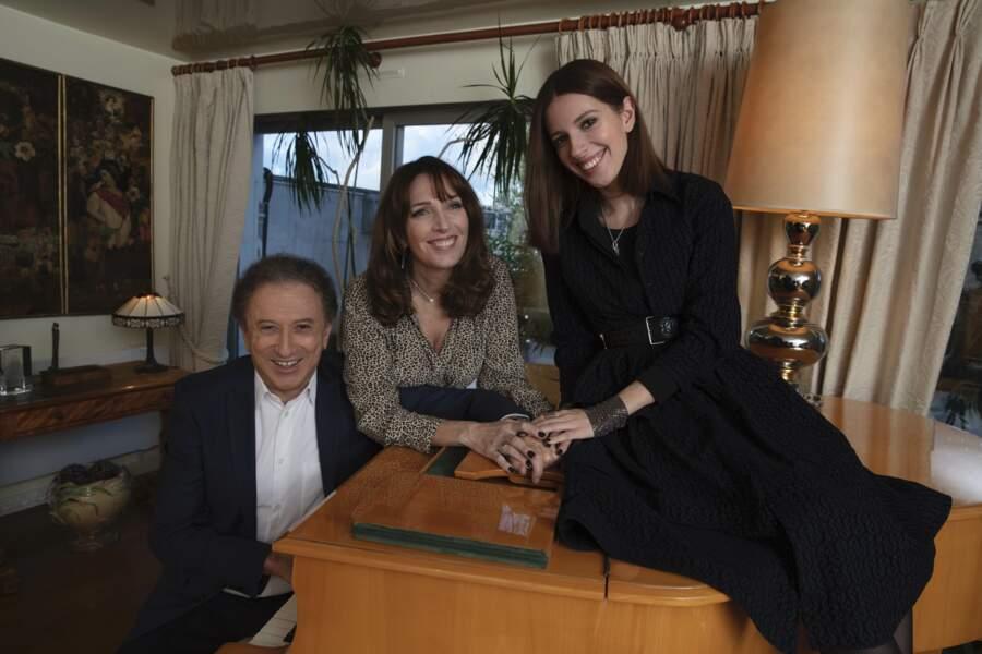 Michel Drucker en famille en 2021