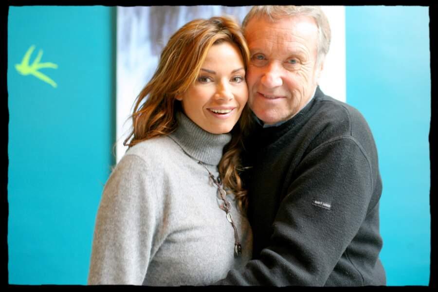 """Ingrid Chauvin et Yves Rénier au Festival de la télévision de Luchon, en février 2007. Les deux acteurs ont notamment joué ensemble dans la mini-série de TF1 """"Dolmen""""."""