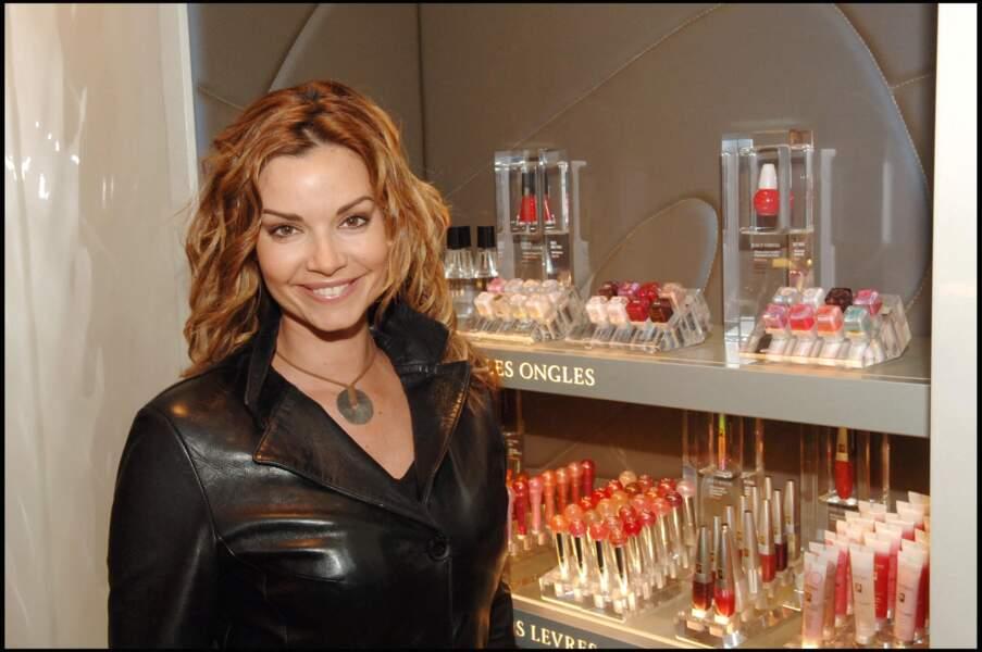 Ingrid Chauvin, en avril 2006, lors de la présentation d'une nouvelle gamme de produits Lancôme.