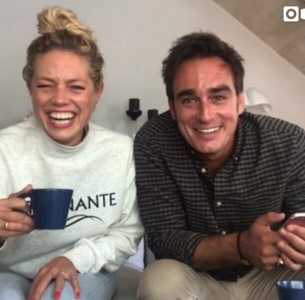 Aurore Delplace et Kevin Levy font des blagues sur Instagram en septembre 2019.