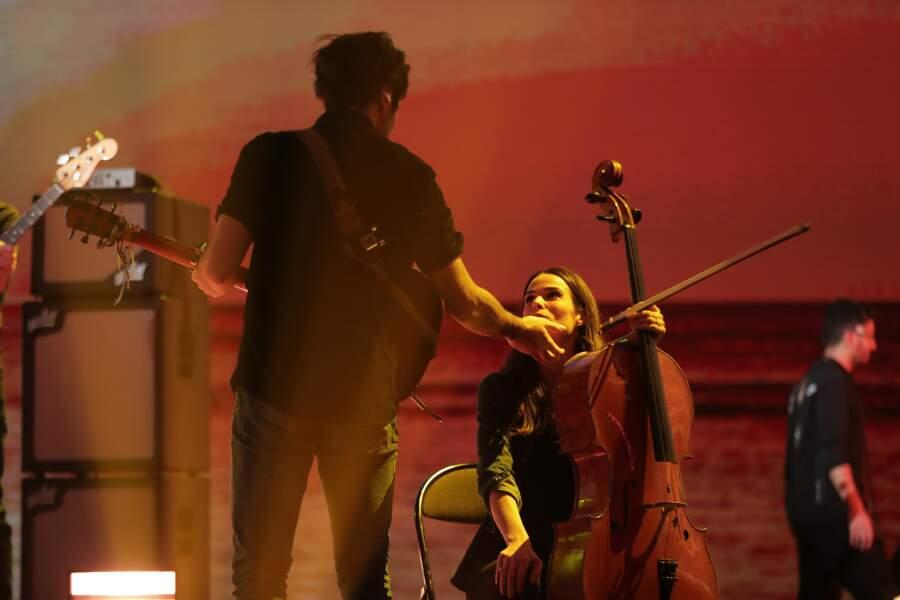 Vianney et Catherine Robert en décembre 2020 aux NRJ Music Awards