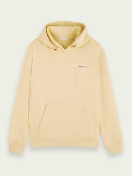 Sweat-shirt à capuche unisexe en coton, 115€, Scotch & Soda