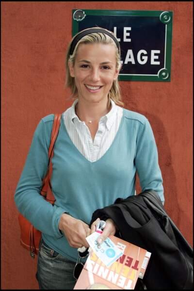 Laurence Ferrari aux internationaux de Roland Garros, le 23 mai 2005