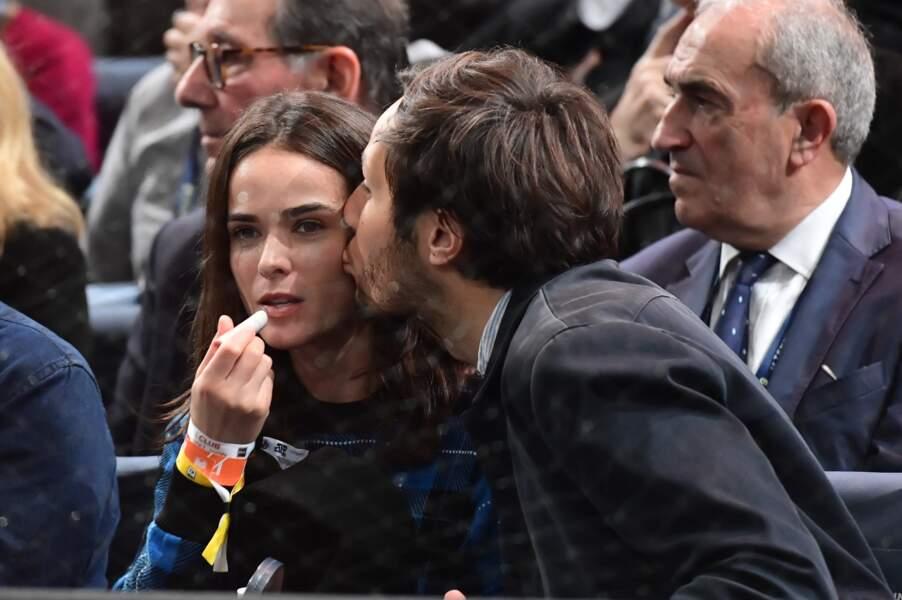 Vianney Bureau (Vianney) et sa compagne Catherine Robert - People lors de la finale du tournoi Rolex Paris Masters 2019 à Paris le 3 novembre 2019