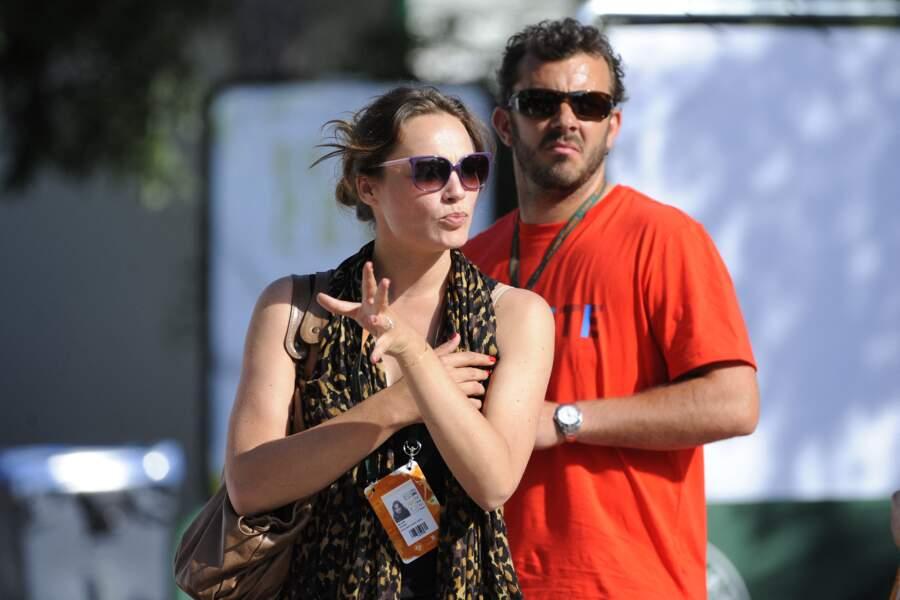 Melanie Maudran et son mari Thierry Ascione en 2011.