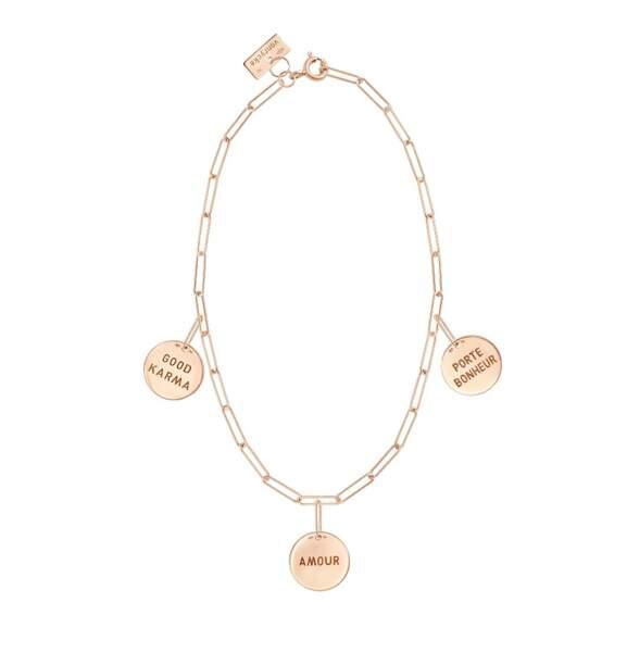 Bracelet en or rose « Good Karma » 650€, Vanrycke exclusivité