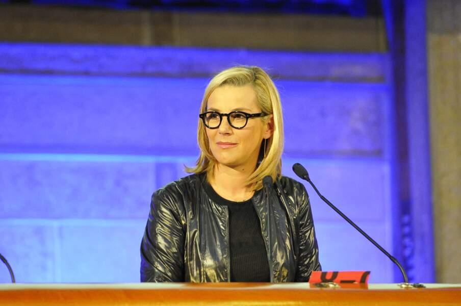 Laurence Ferrari lors du débat sur les familles monoparentales au Conseil Economique Social et environnemental, le 18 février 2013.