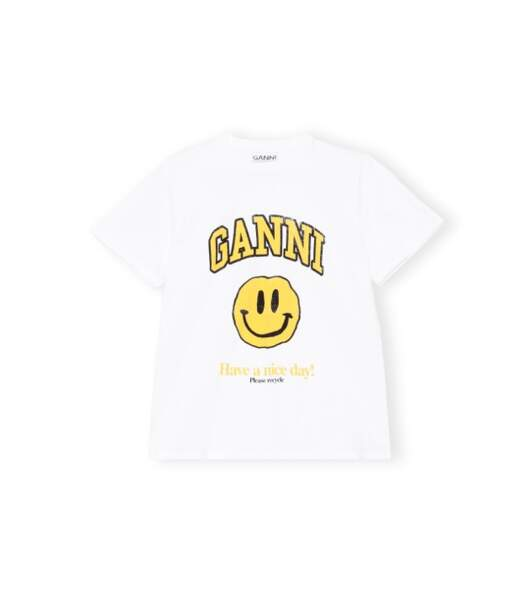 Tee-shirt, 85€, Ganni aux Galeries Lafayette exclusivité Go for Good