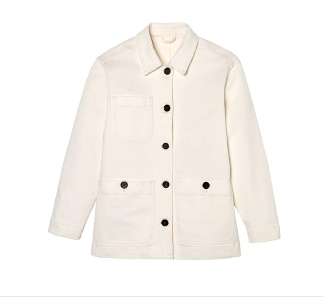 Veste Workwear blache « Loom » , 79,99€, Galeries Lafayette label Go for Good