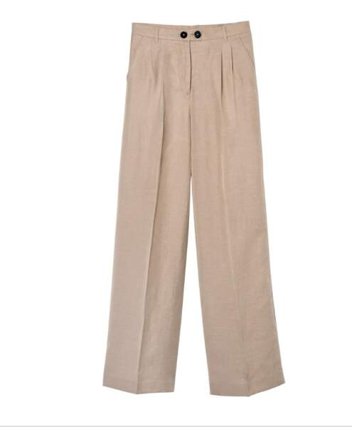 Pantalon beige « Ludwig 3 », 79,99€, Label Go for Good par Galeries Lafayette
