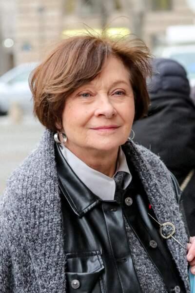 Macha Méril faisait partie des personnalités présentes en l'église Saint-Sulpice, ce mardi 9 février 2021, pour rendre hommage à Robert Hossein.