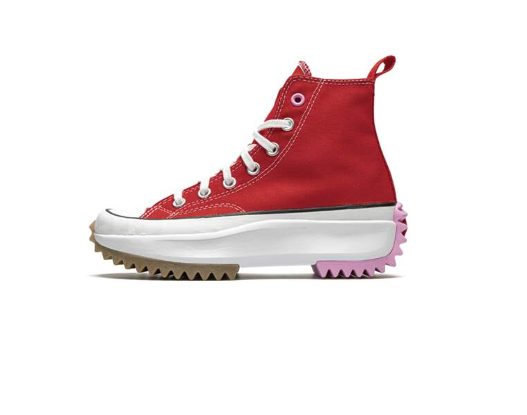 Converse run star hike Hi University red, 200€, Converse