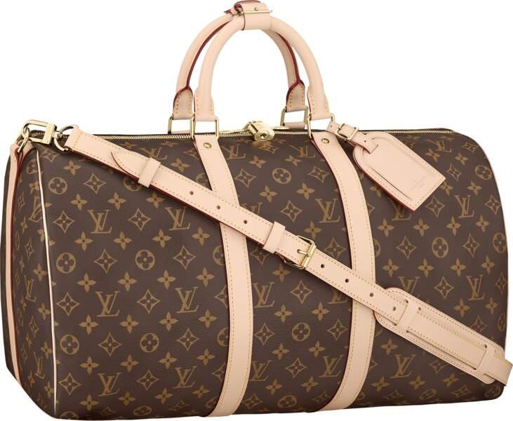 Sac en toile Monogram et cuir, 1500 €, Louis Vuitton.