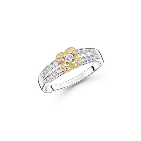 Alliance en argent et diamants, 525 €, Mauboussin.
