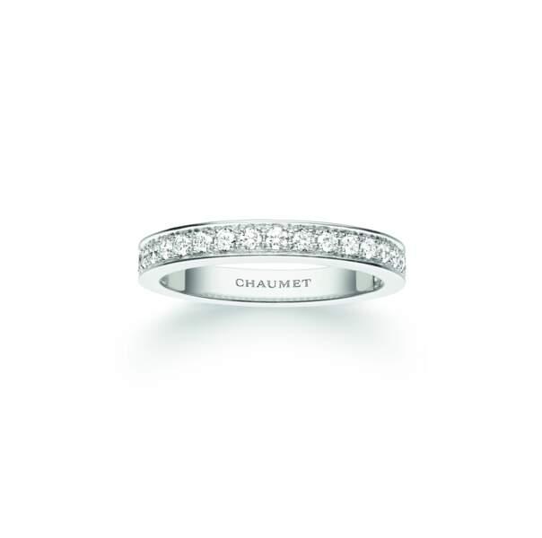 Alliance, en or et diamants, 4 420 € Chaumet.