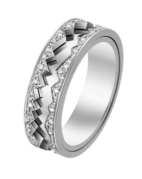 Alliance en or et diamants, 4 800 €, Akillis.