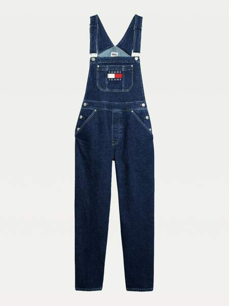 Salopette en denim extensible, 97€, Tommy Hilfiger