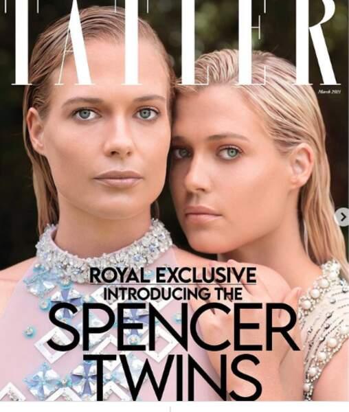 Dans la famille Spencer, il faudra aussi désormais compter avec les soeurs de Kitty, Eliza et Amelia, choisies pour illustrer la une du magazine Tatler en mars 2021.