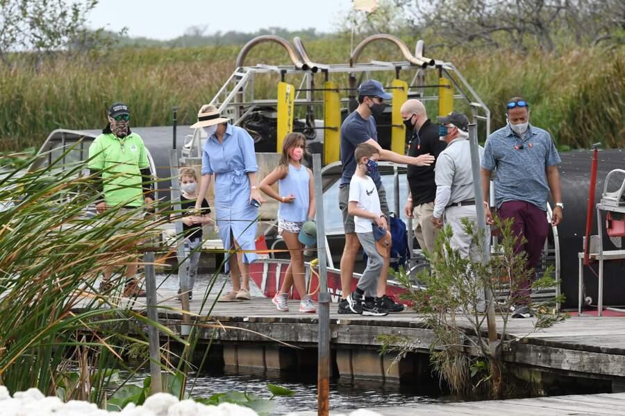 Ce dimanche 7 février, Ivanka Trump s'est accordée une sortie en famille au Everglades Holiday Park,  à Fort Lauderdale en Floride