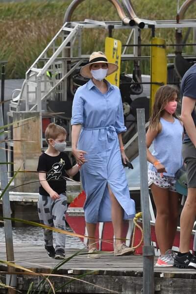 Les enfants et le mari d'Ivanka Trump ont tous été vêtus de nuances de bleu et blanc concordantes