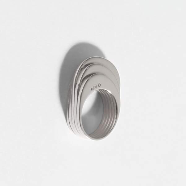 Bague nami 5 anneaux argent,  250€, okan-studio