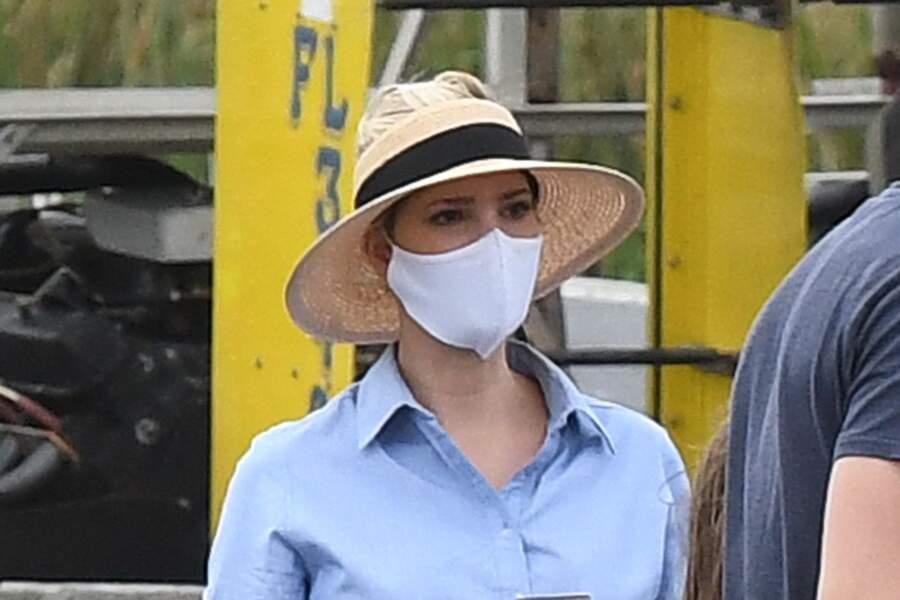 Ivanka Trump est également apparue masquée et avec un chapeau.