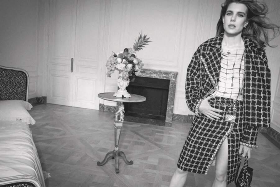 En plus de prêter son image à Chanel, Charlotte Casiraghi, passionnée de philosophie, va également organiser des rendez-vous littéraires mensuels rue Cambon, adresse historique de la maison.