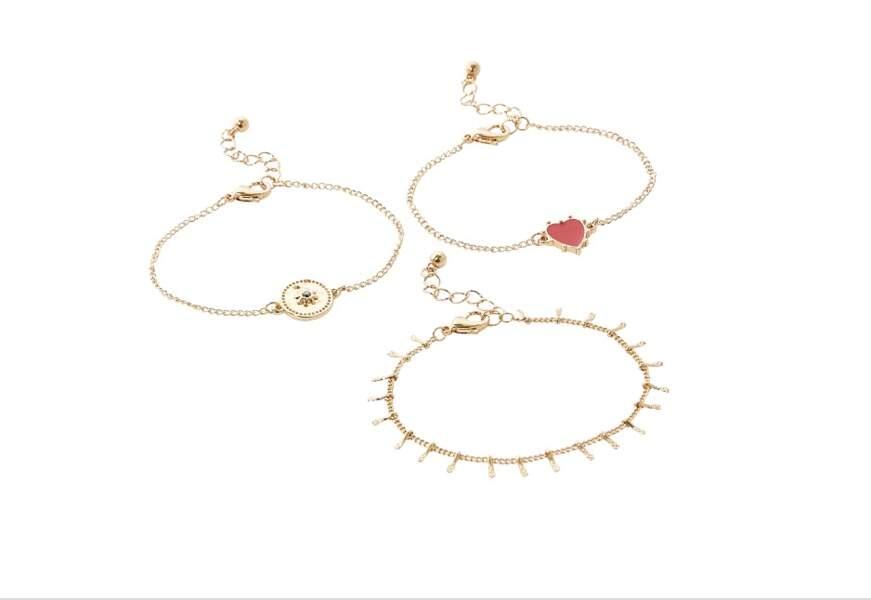 Set de bracelets rouge vintage spirit, 9, 90€, Balaboosté