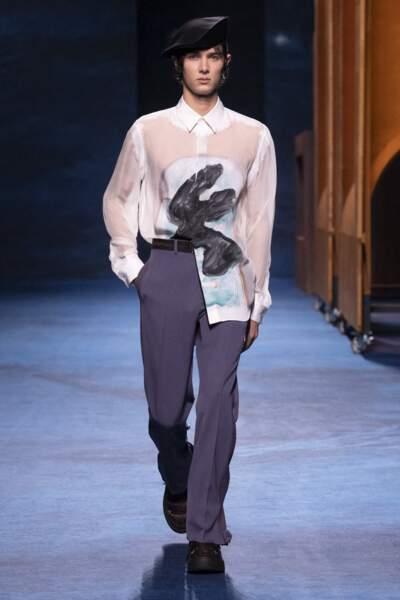 Petit-fils de la reine Margrethe II, Nikolai de Danemark a fait un retour sur les podiums pour la collection de prêt-à-porter automne-hiver 2021-2022 de Dior Homme, en janvier 2021.