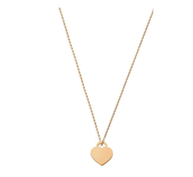 Pendentif coeur en or jaune, 260€, Dinh Van