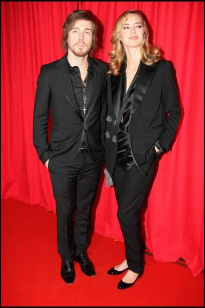 Julien Doré avec Louise Bourgoin lors de la 33ème cérémonie des César en février 2008.