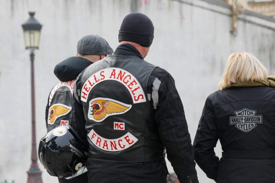 Les Hells Angels, célèbre club de motards criminalisés, étaient également réunis à Paris, ce vendredi 12 février, à l'occasion des obsèques du photographe Richard Aujard.