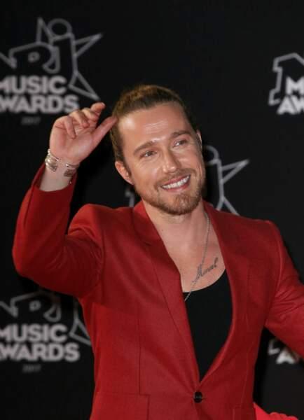 Julien Doré, lors de la 19ème édition des NRJ Music Awards à Cannes le 4 novembre 2017.