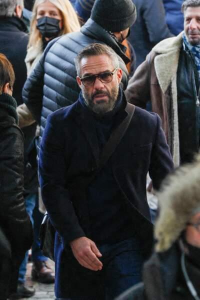 L'acteur Philippe Bas s'est rendu en l'église Notre Dame de La Croix, ce vendredi 12 février 2021, pour rendre hommage au photographe Richard Aujard.