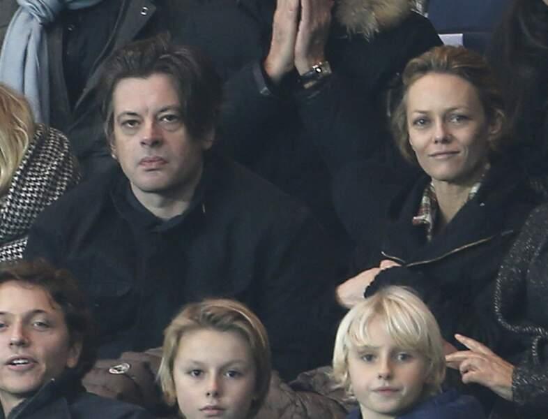 Benjamin Biolay et Vanessa Paradis au Parc des Princes à Paris le 29 novembre 2014
