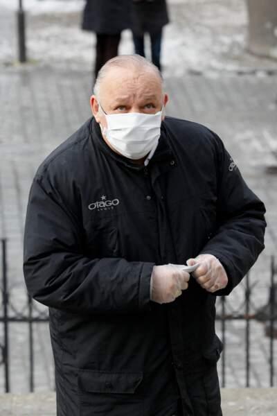 Le boxeur Franck Tiozzo faisait lui aussi partie des personnalités présentes en l'église Notre Dame de La Croix pour rendre hommage au photographe Richard Aujard.