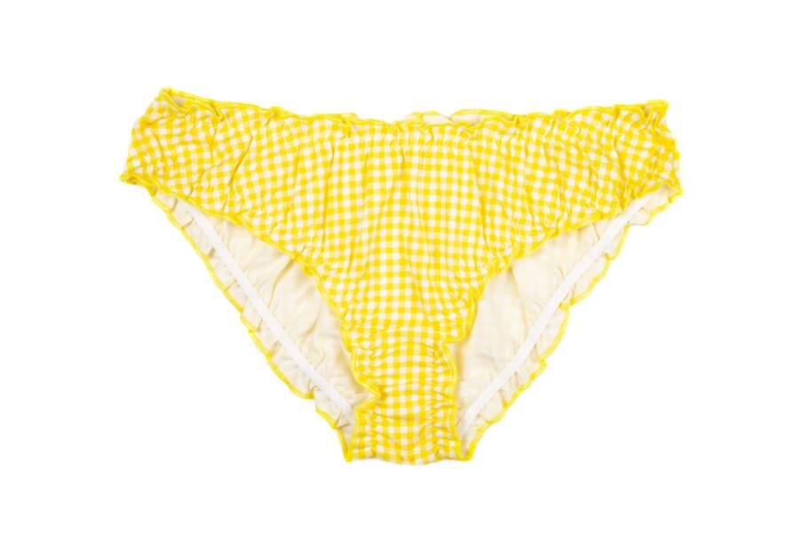 Bloomer coton bio Vichy Yellow, 15€, Jolies Culottes