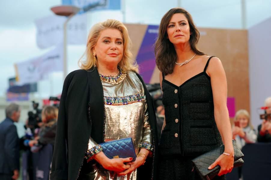 Catherine Deneuve, ex-belle-mère de Benjamin Biolay, et Anna Mouglalis au 45ème Festival du Cinéma Américain de Deauville le 6 septembre 2019