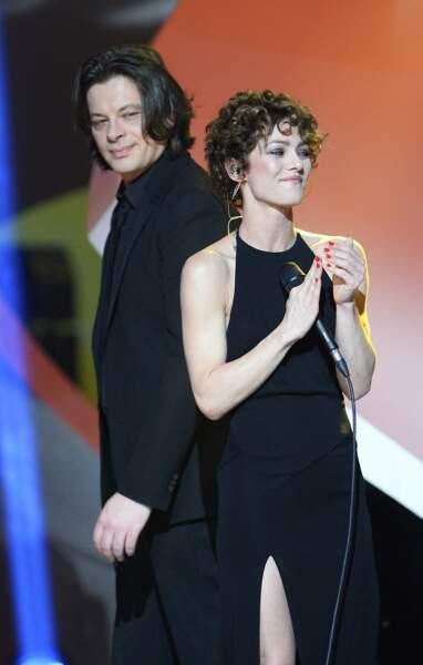 Benjamin Biolay et Vanessa Paradis lors de la 29ème édition des Victoires de la Musique à Paris le 14 février 2014