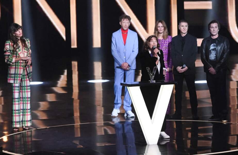 Lou Doillon, Eddy de Pretto, Vanessa Paradis, Étienne Daho, Thomas Dutronc et Jane Birkin aux Victoires de la Musique 2021