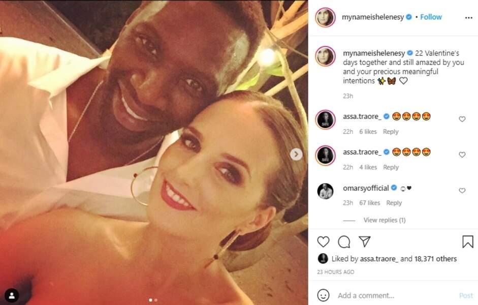 Hélène et Omar Sy pour la Saint-Valentin ce dimanche 14 février sur Instagram